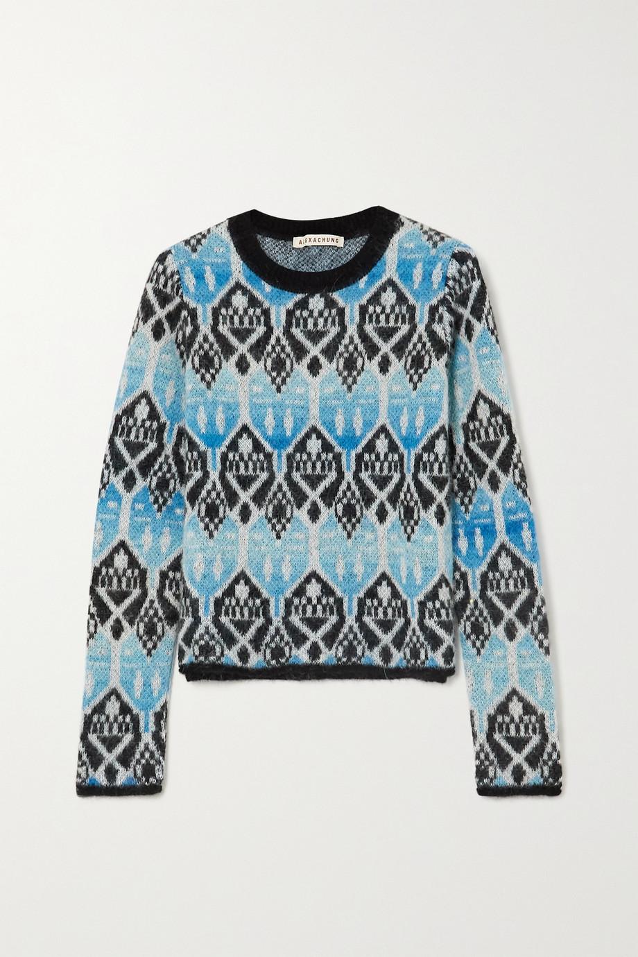 ALEXACHUNG Jacquard-knit sweater