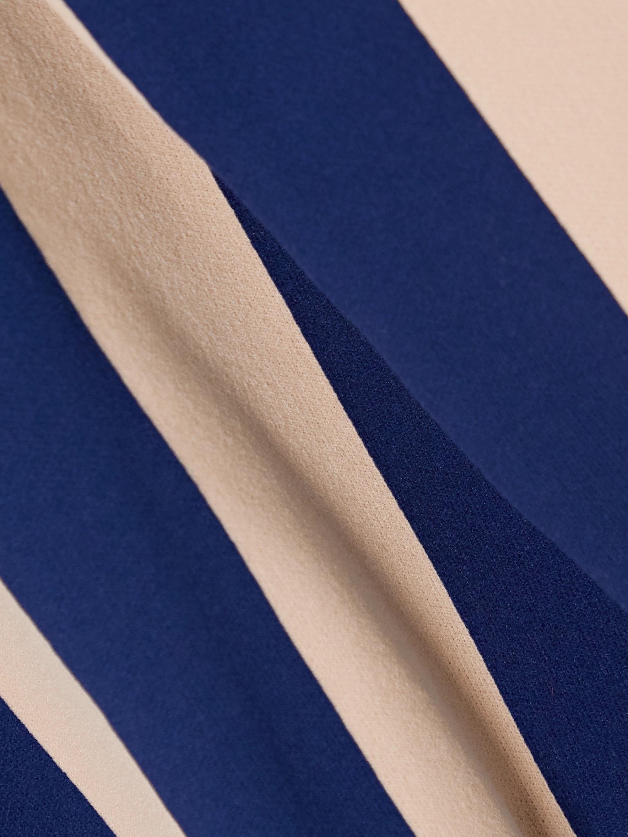 ALEXACHUNG Striped stretch-jersey polo shirt