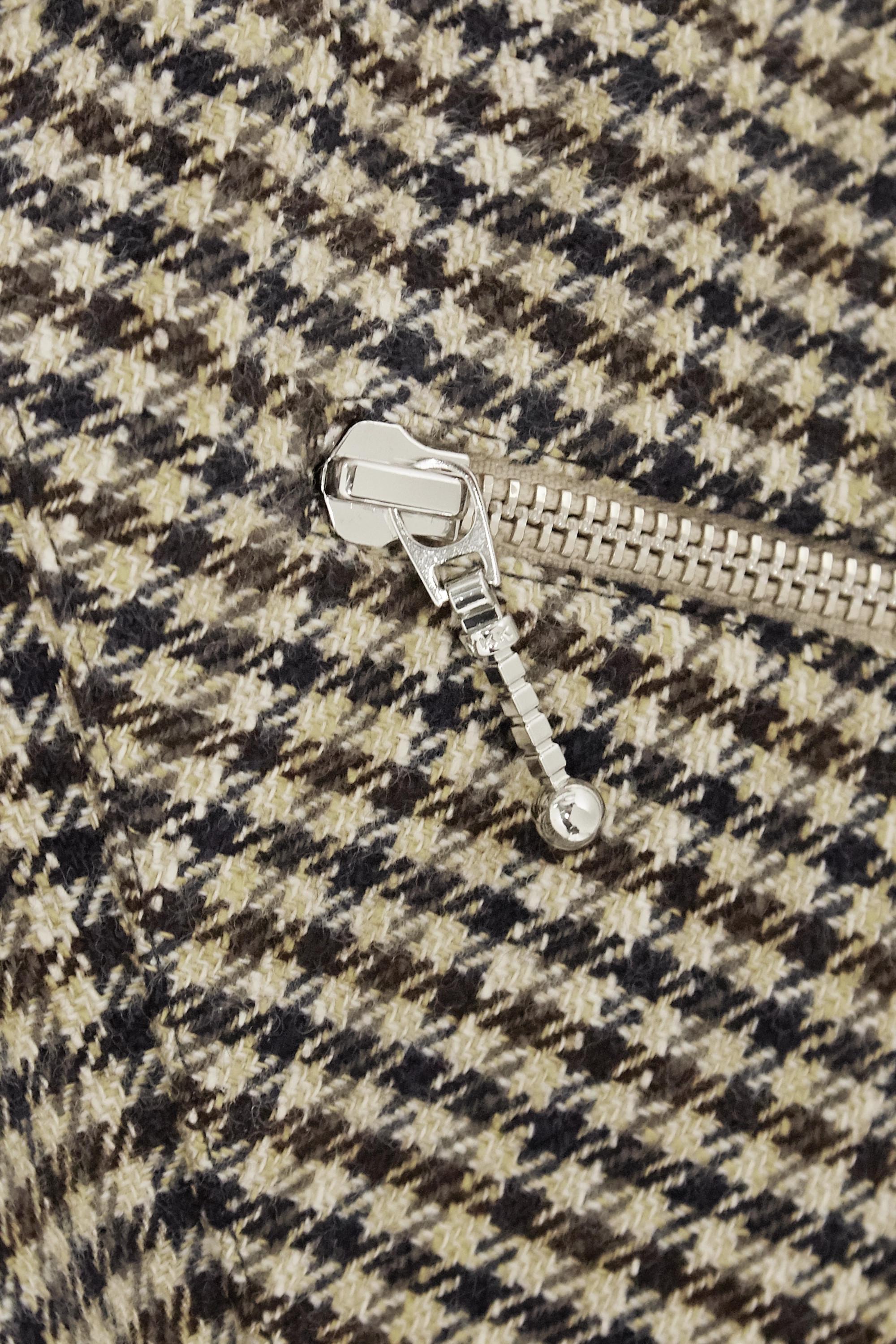 Camel Judy Houndstooth Woven Mini Skirt   Alexachung