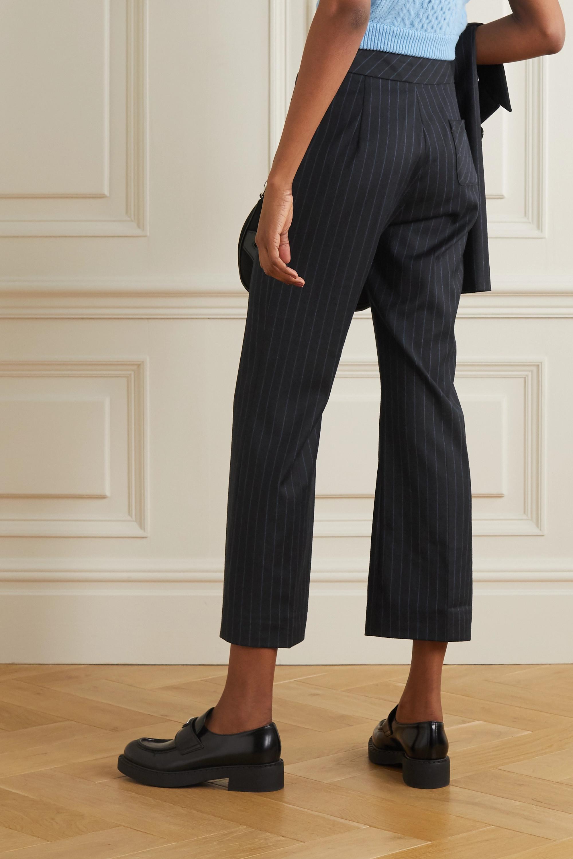 ALEXACHUNG E.Vill Boy pinstriped woven flared pants