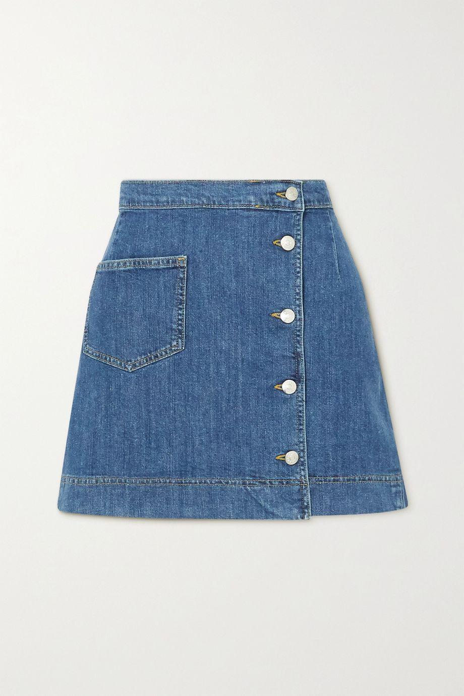 ALEXACHUNG 1976 牛仔布裹身迷你半身裙