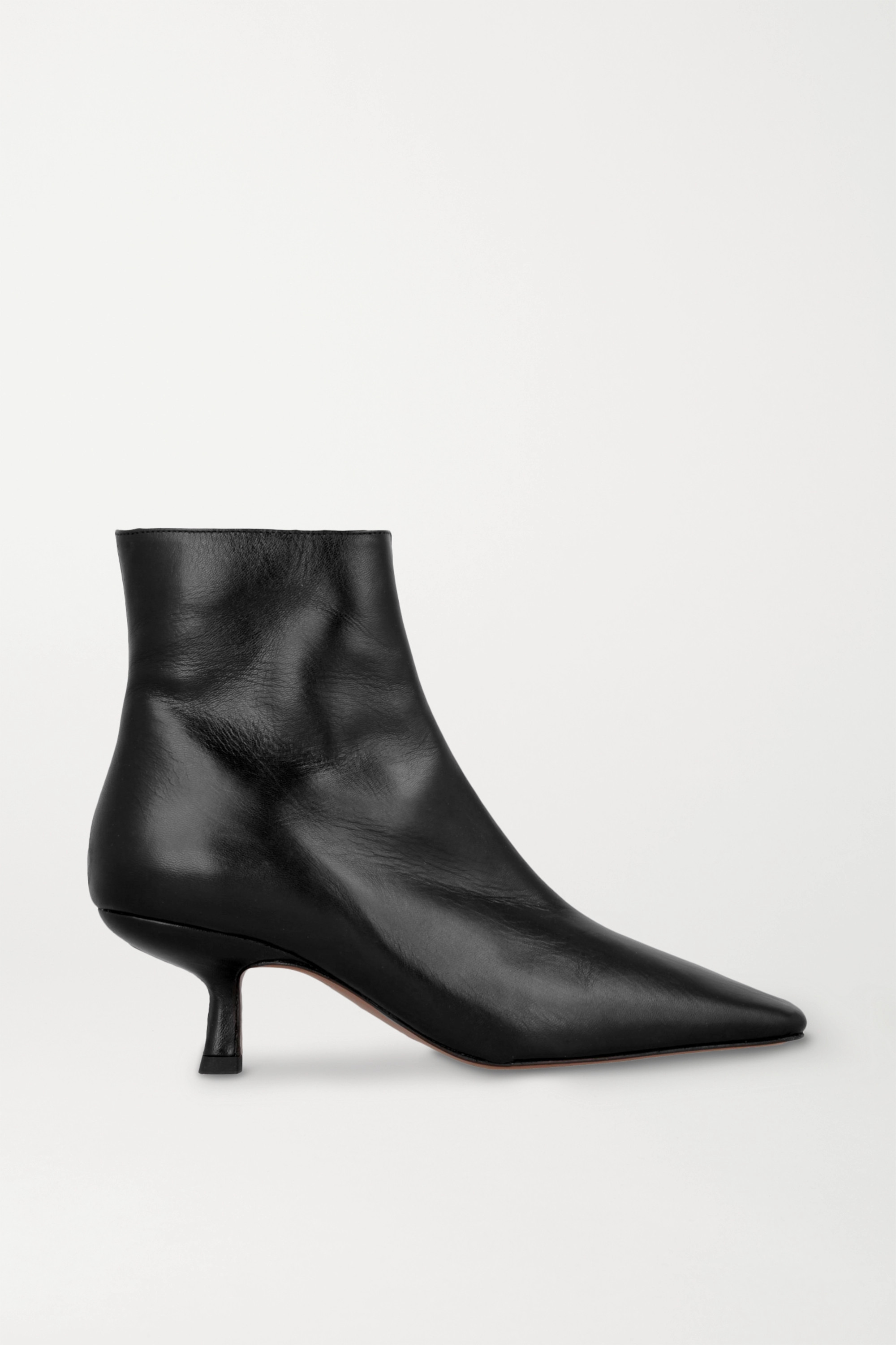 BY FAR Lange leather ankle boots