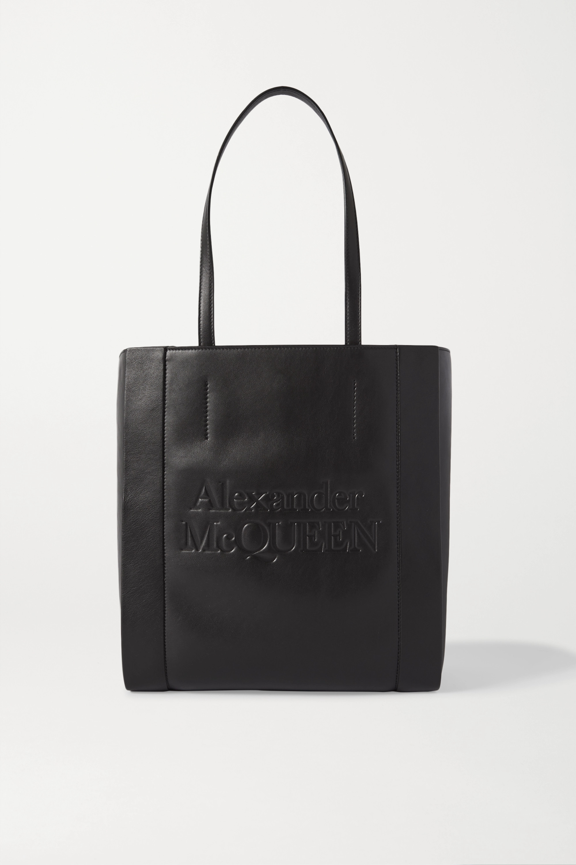 Alexander McQueen Signature large embossed leather tote