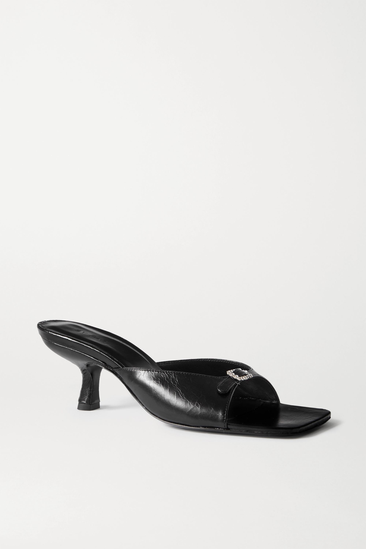 BY FAR Erin 搭扣缀饰皮革穆勒鞋