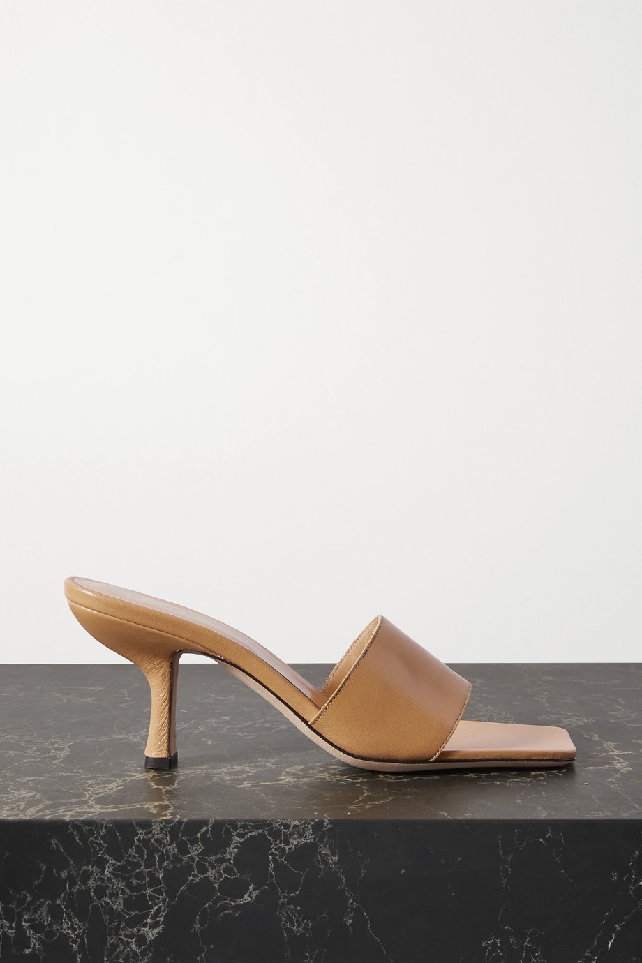 BY FAR Dylan leather mules