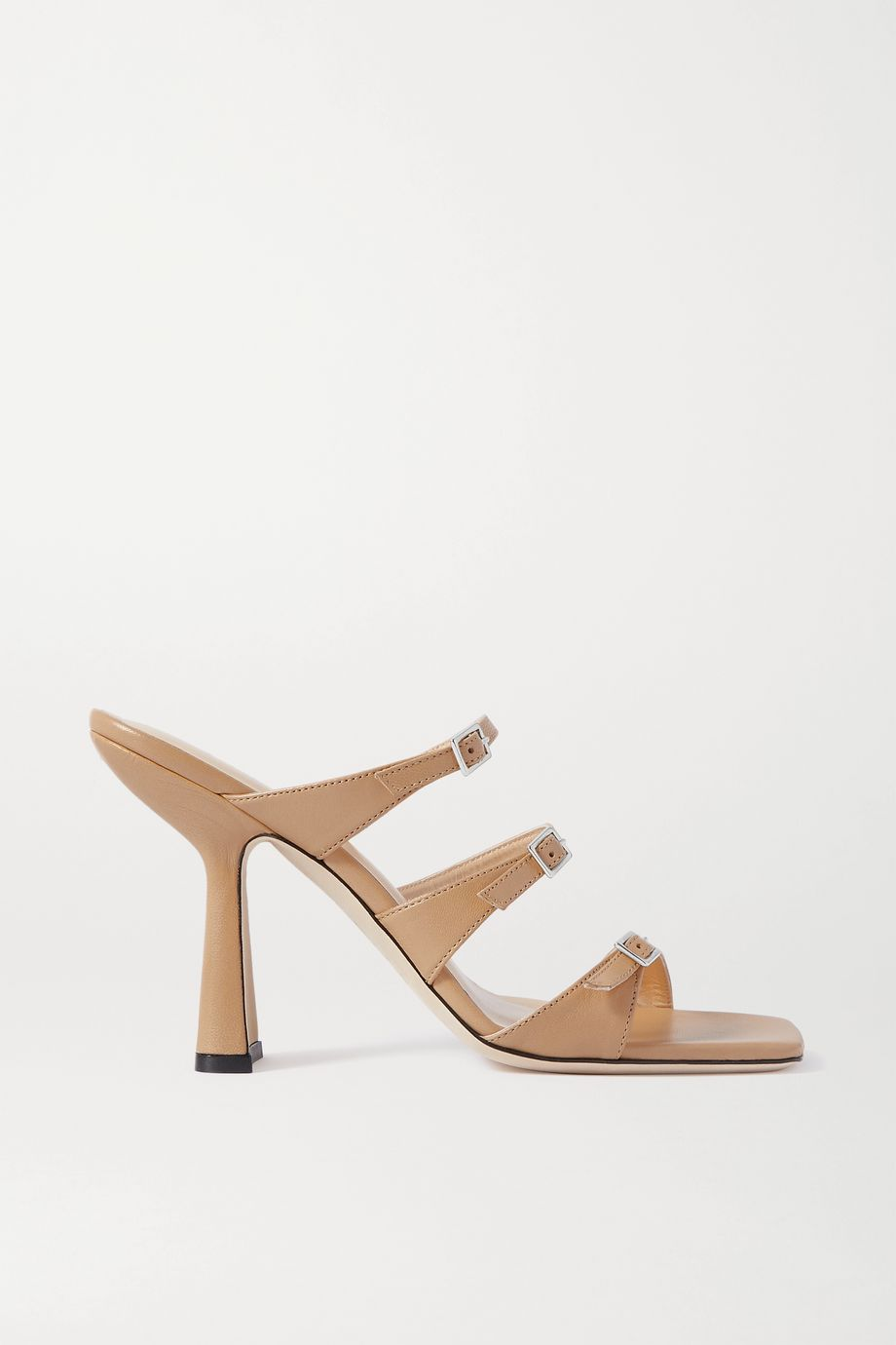 BY FAR Malene buckled leather mules