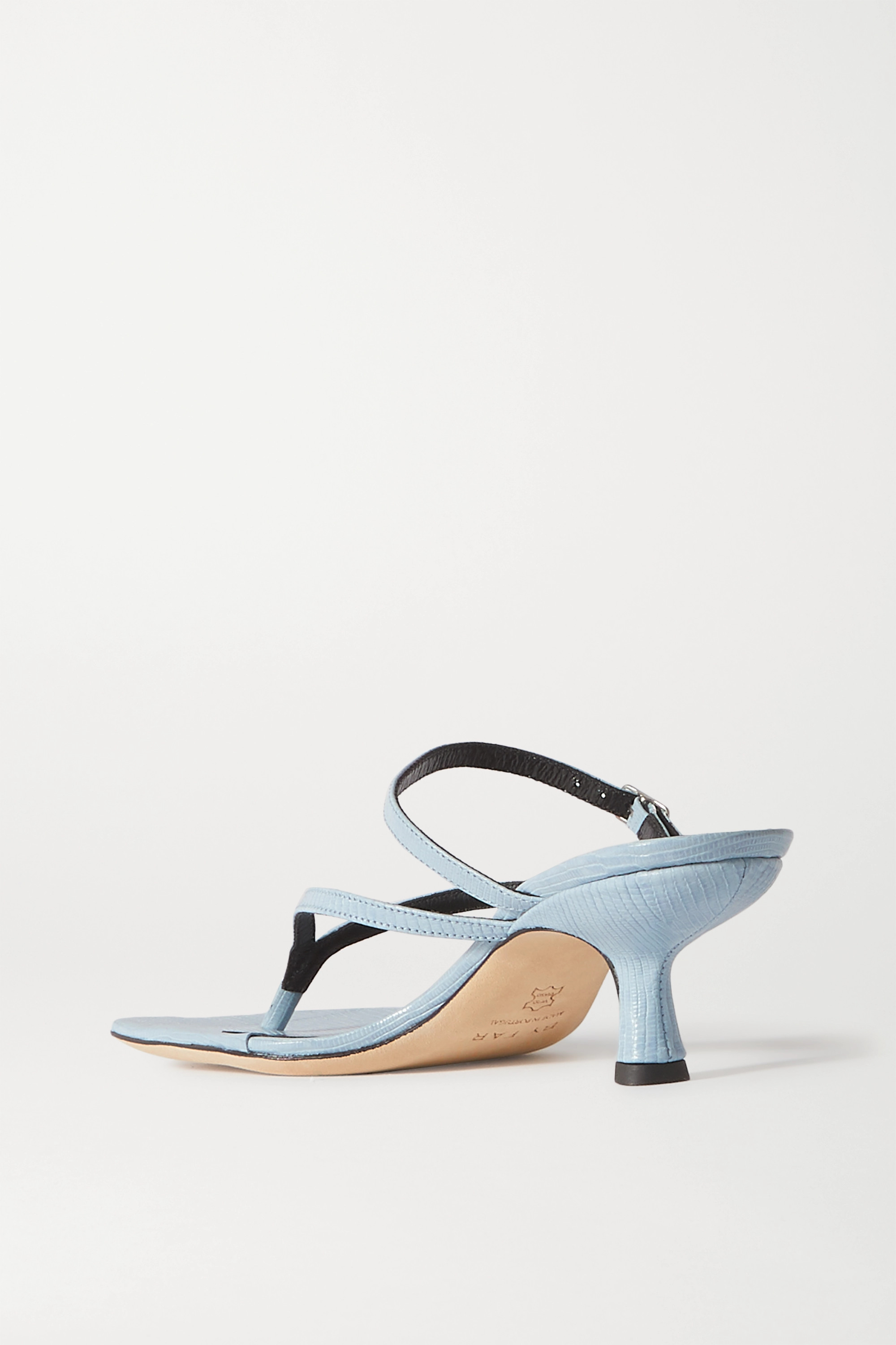 BY FAR Desiree lizard-effect leather sandals