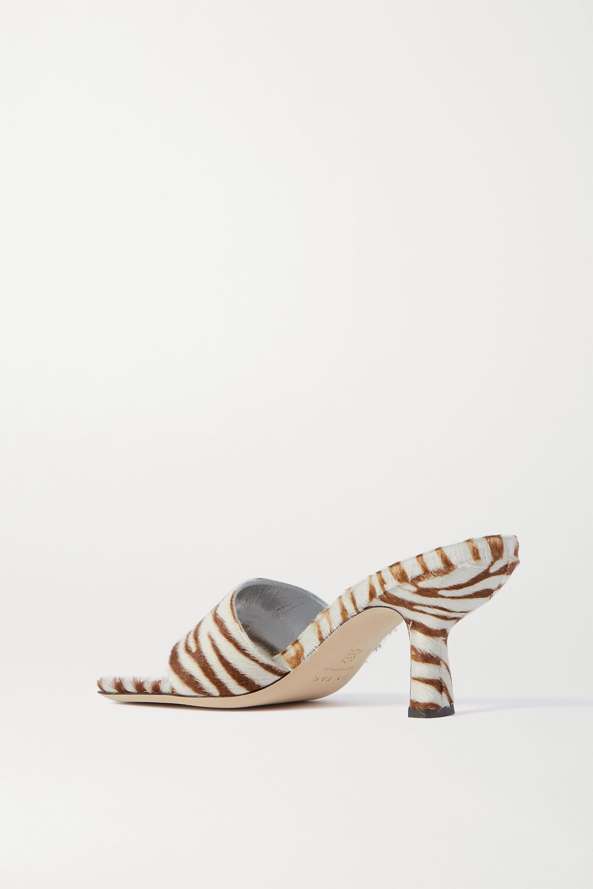 Zebra Print Dylan Zebra-print Calf Hair Mules | By Far