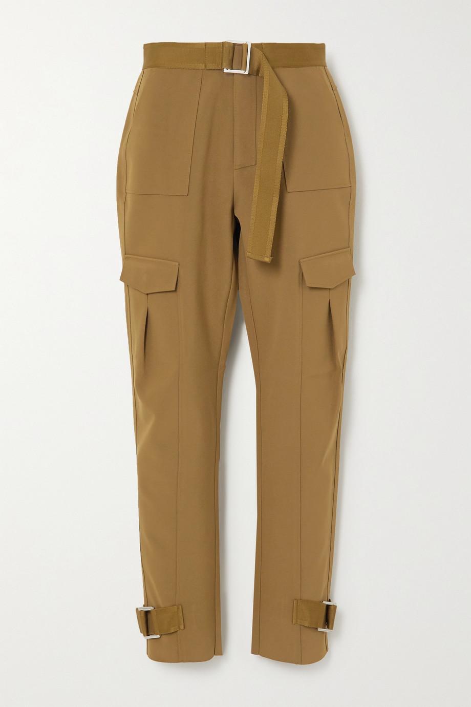Holzweiler Skunk belted woven cargo pants