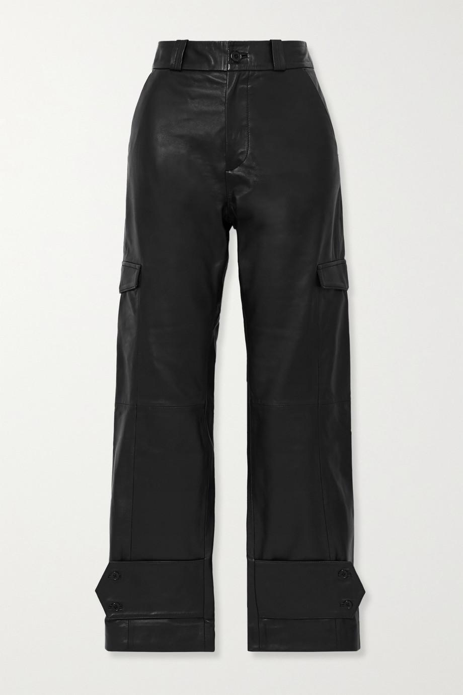 Holzweiler Dunder Hose mit geradem Bein aus Leder
