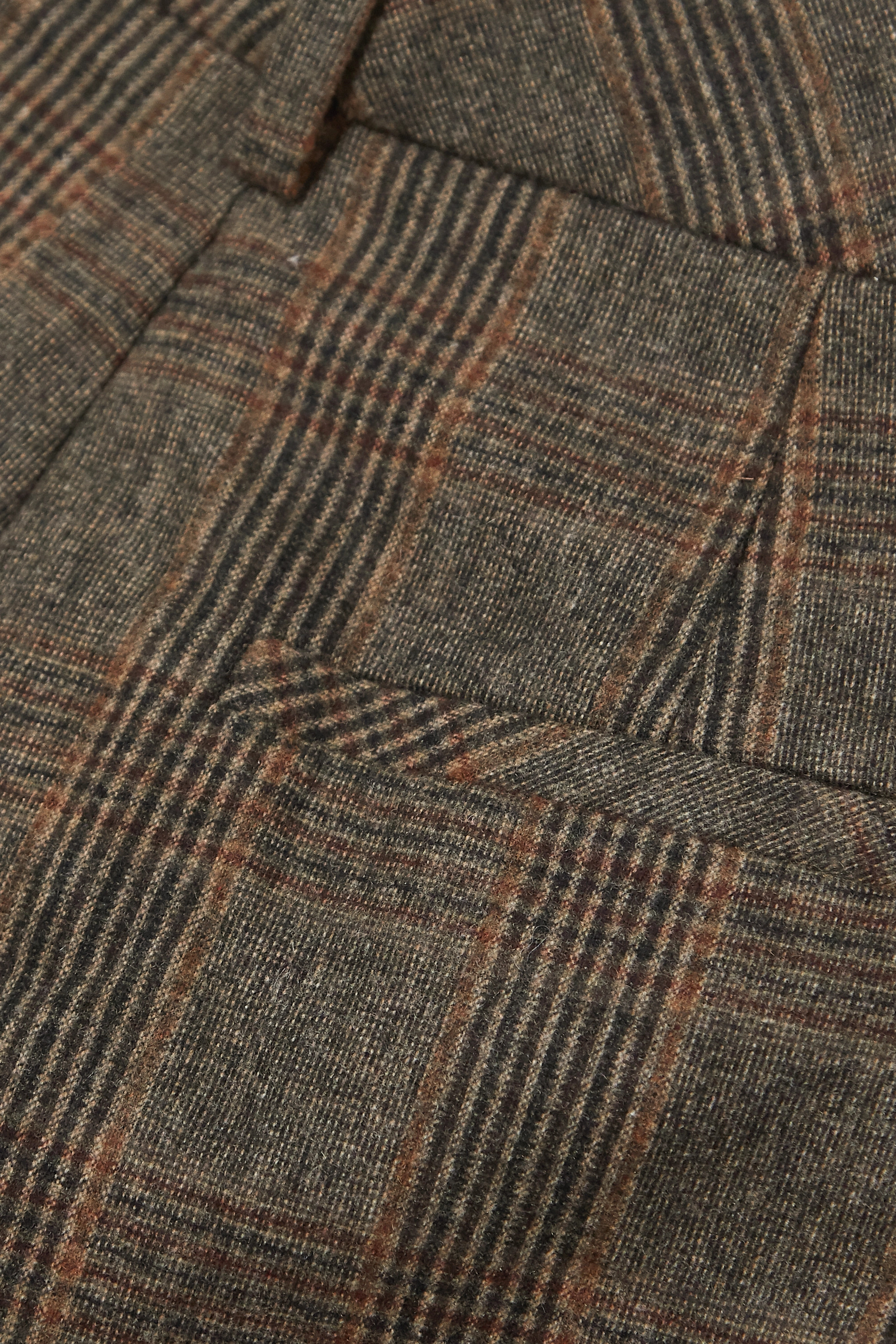 Holzweiler Bottomsup checked woven straight-leg pants