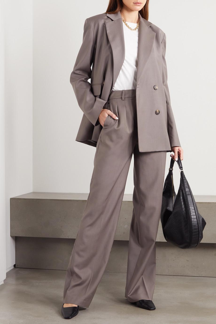 LOULOU STUDIO Tatakoto doppelreihiger Blazer aus Wolle