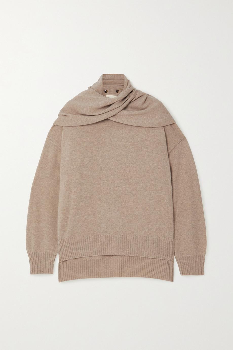 LOULOU STUDIO Spando tie-detailed mélange cashmere sweater