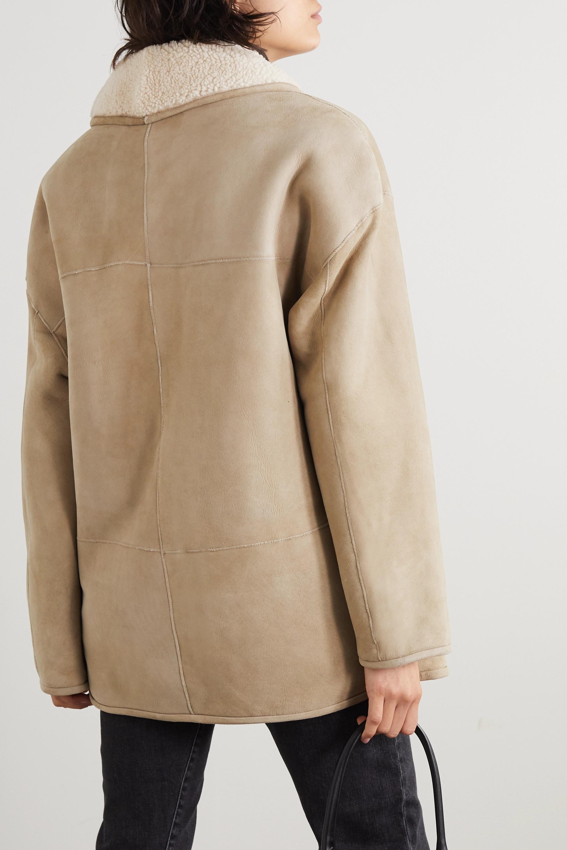 LOULOU STUDIO Manteau oversize en peau lainée