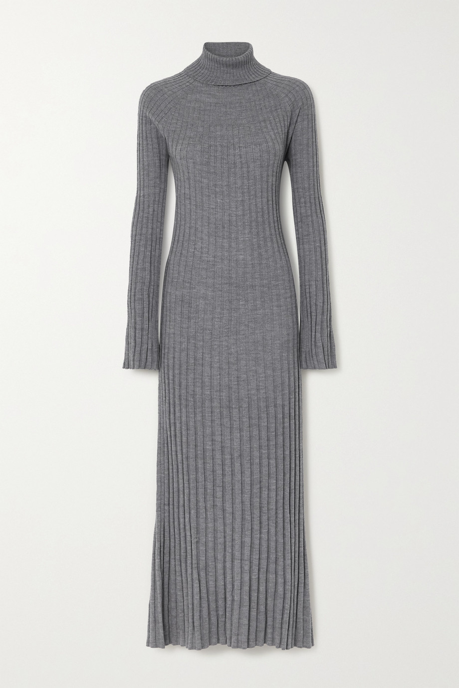LOULOU STUDIO Ribbed wool turtleneck maxi dress