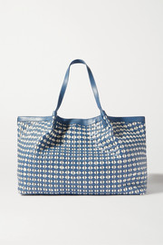 Serapian Secret large woven leather tote