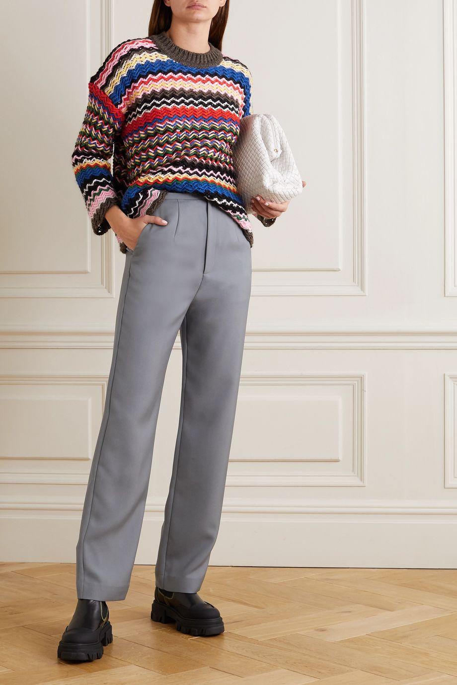 Stine Goya Rebeka striped knitted sweater