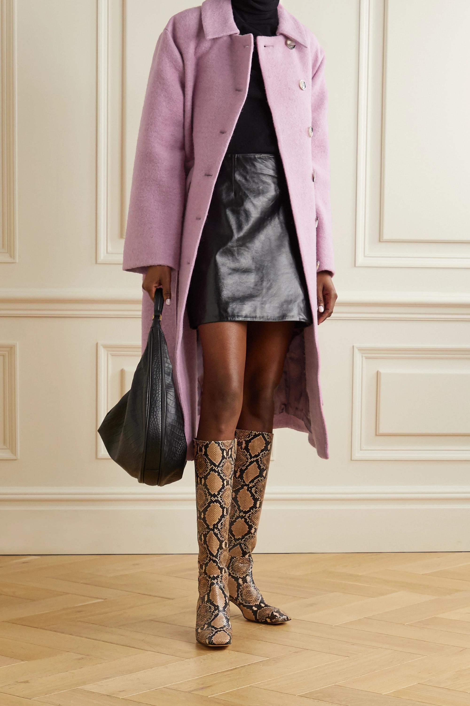 Stine Goya Margret belted wool-blend coat