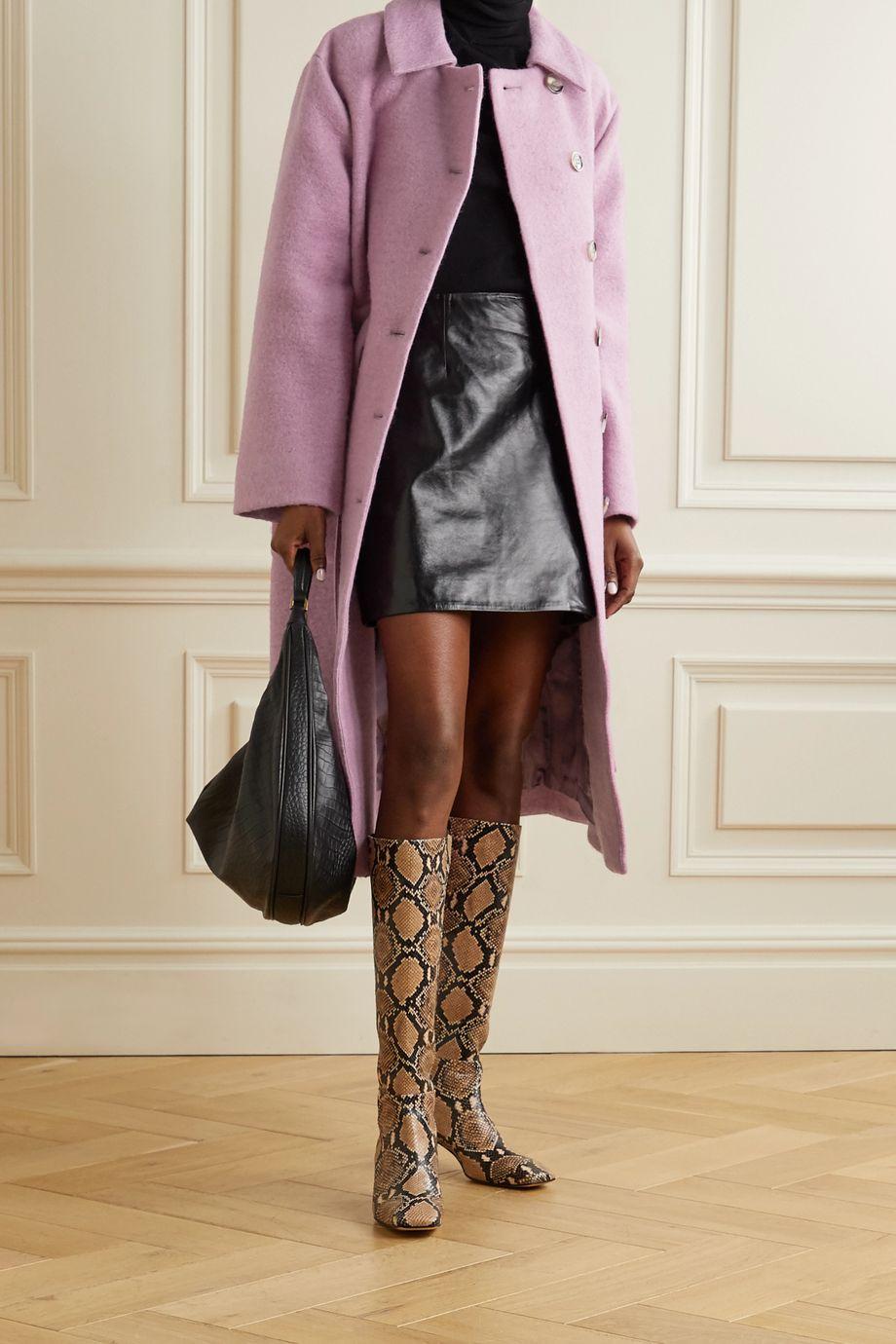 Stine Goya Manteau en laine mélangée à ceinture Margret