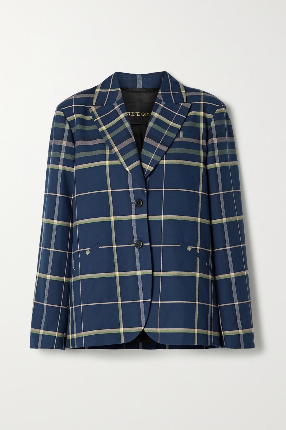 Stine Goya Vina oversized checked cotton blazer