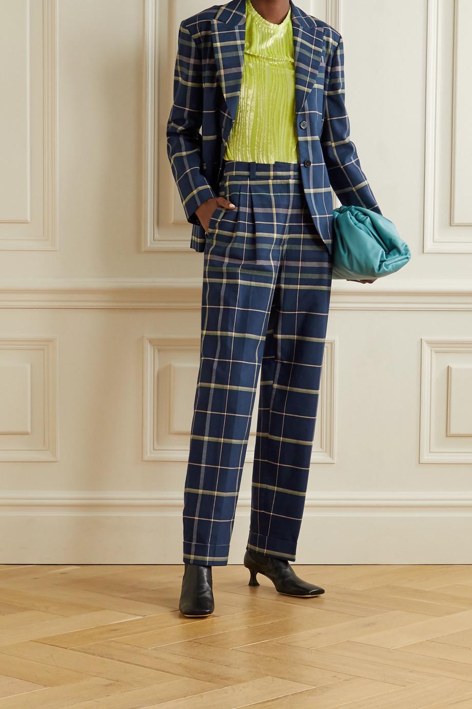 Stine Goya Vina karierter Oversized-Blazer aus Baumwolle