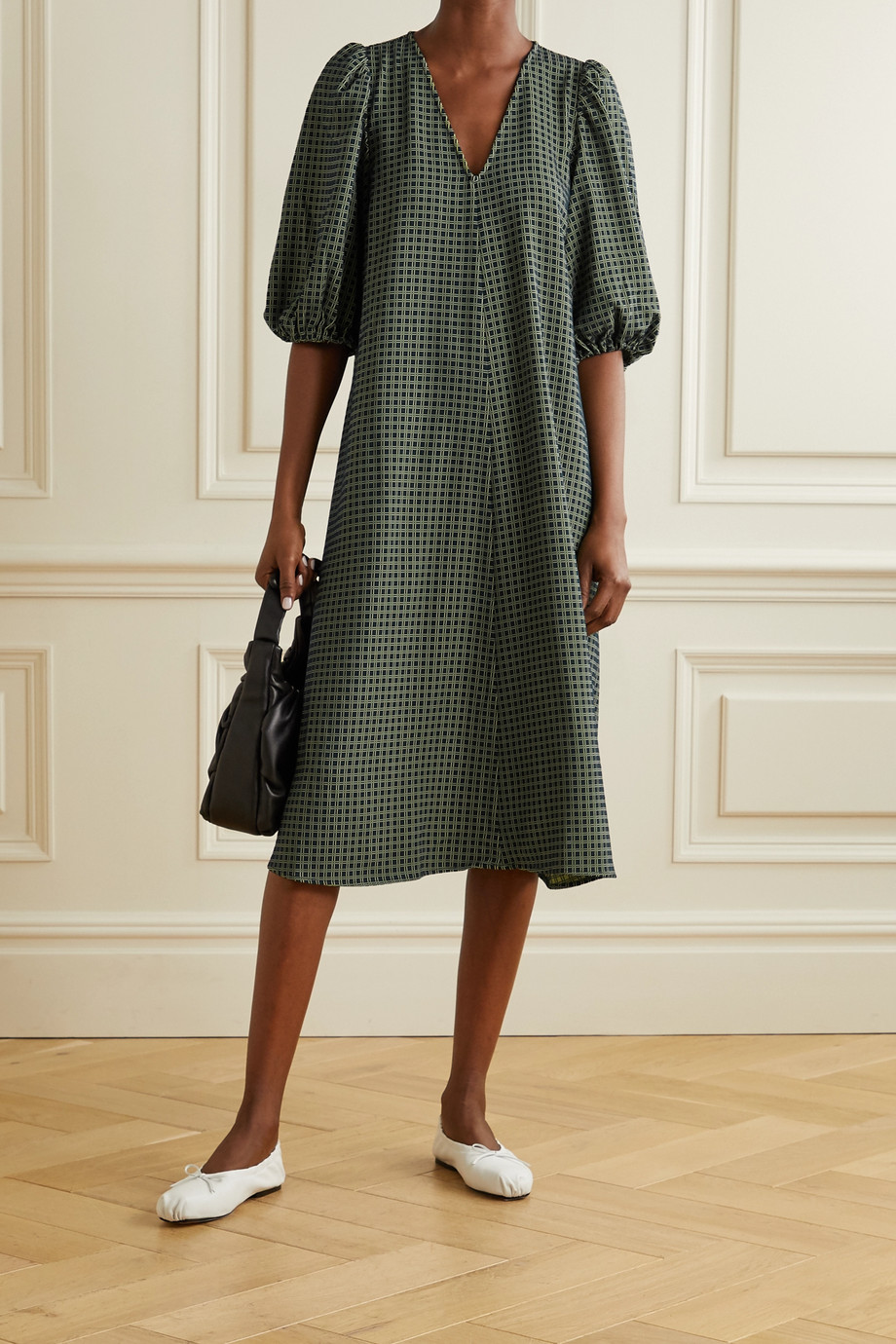 Stine Goya + NET SUSTAIN Mavelin jacquard midi dress