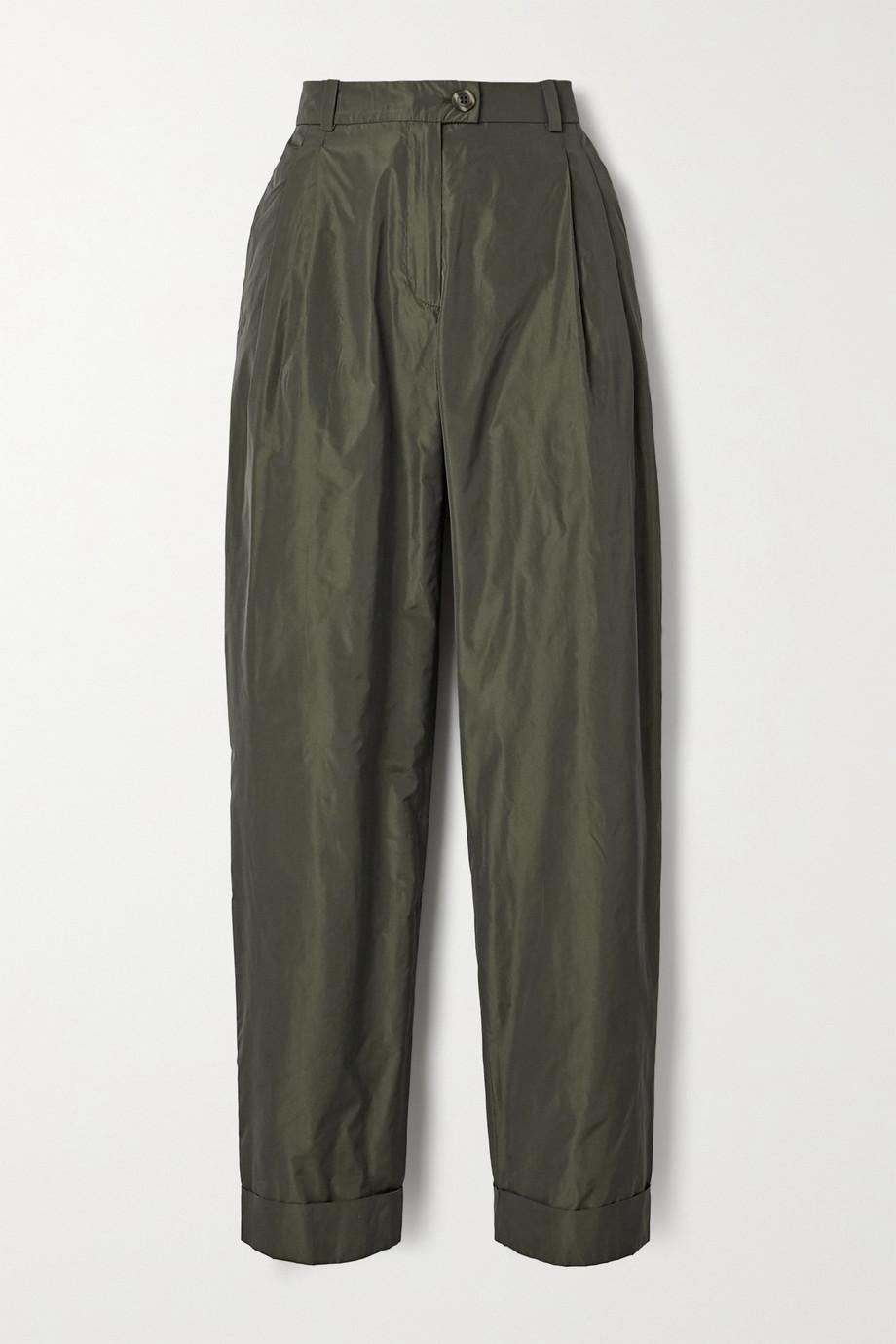 Stine Goya Pantalon fuselé en taffetas à plis Laia