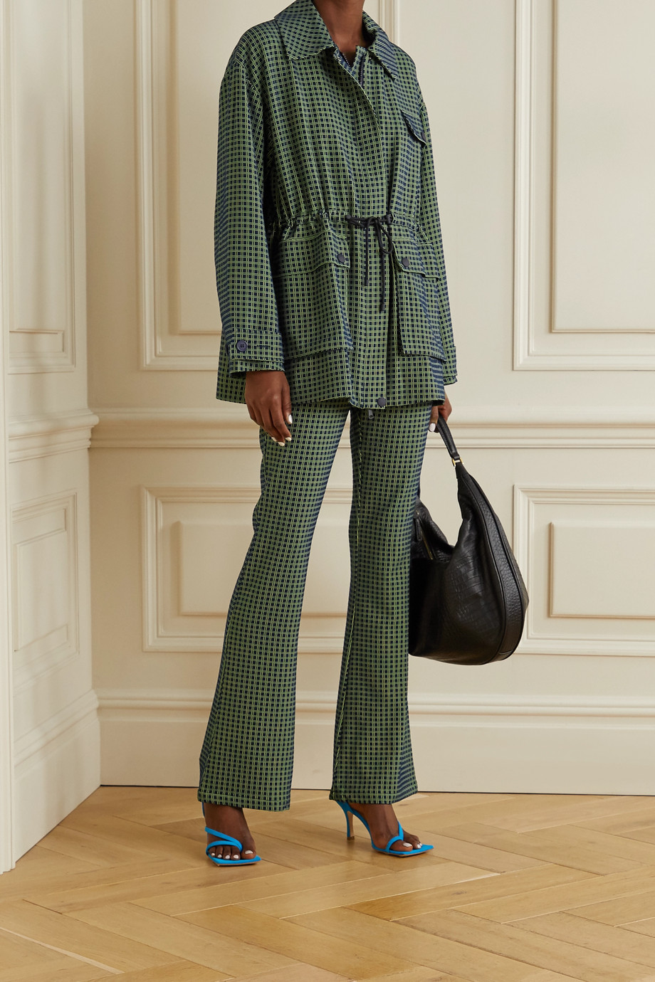 Stine Goya Nolan jacquard flared pants