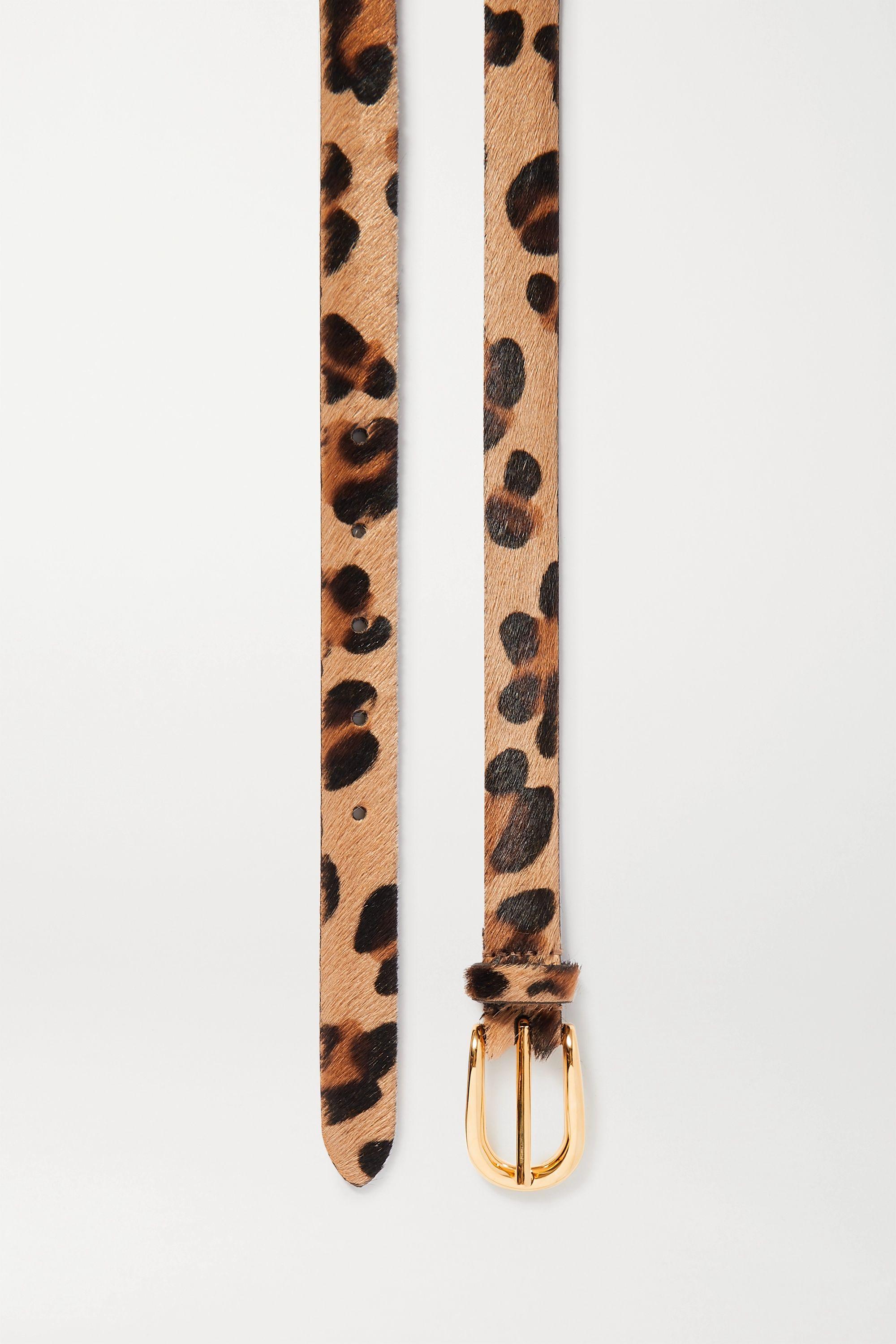Anderson's Leopard-print calf hair belt