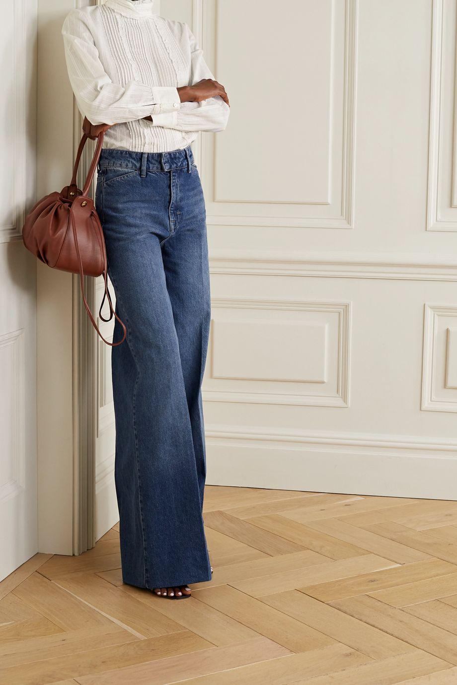 Vanessa Bruno Pretty Bluse aus besticktem Baumwoll-Voile mit Biesen