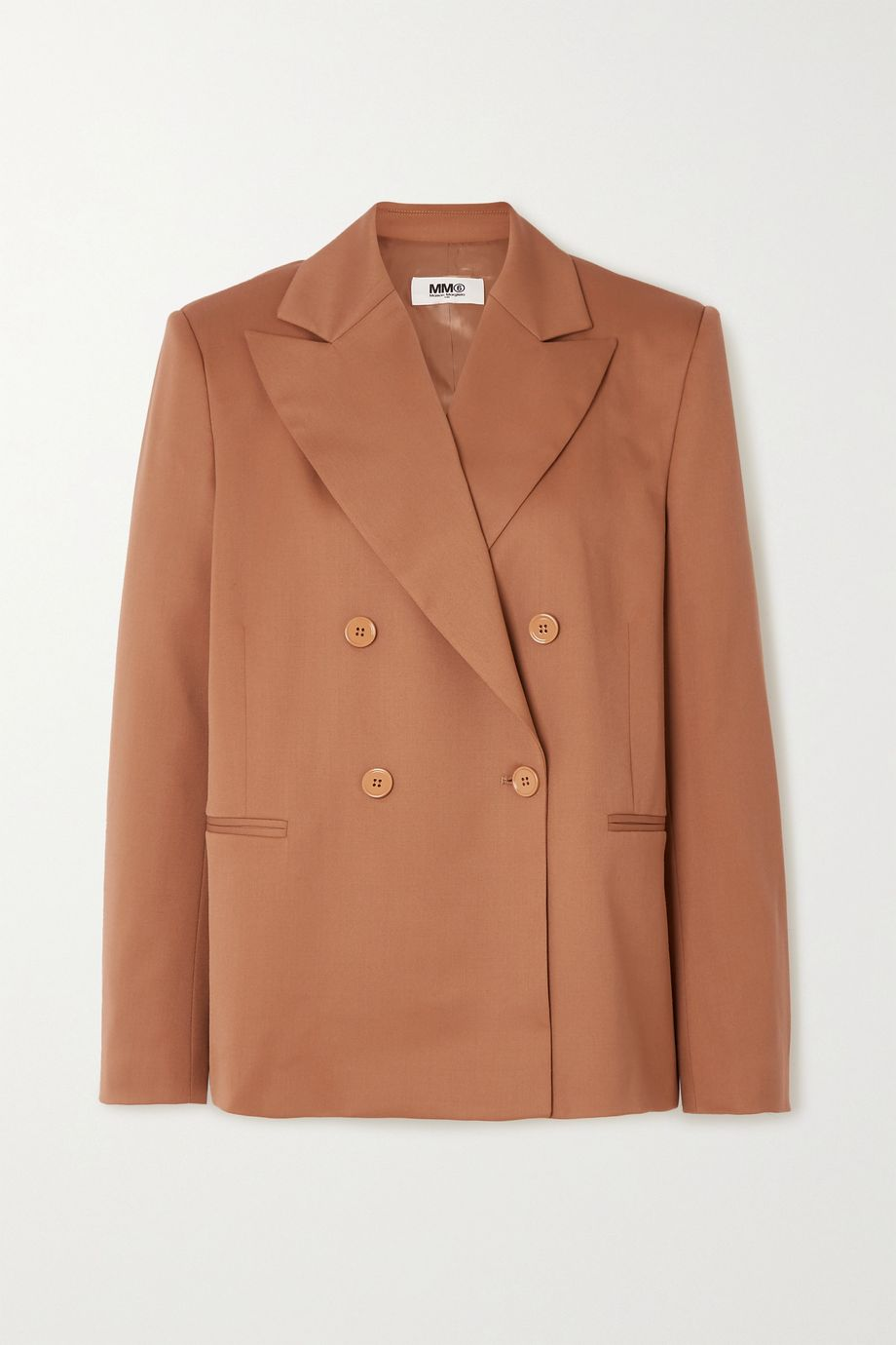 MM6 Maison Margiela Double-breasted twill blazer