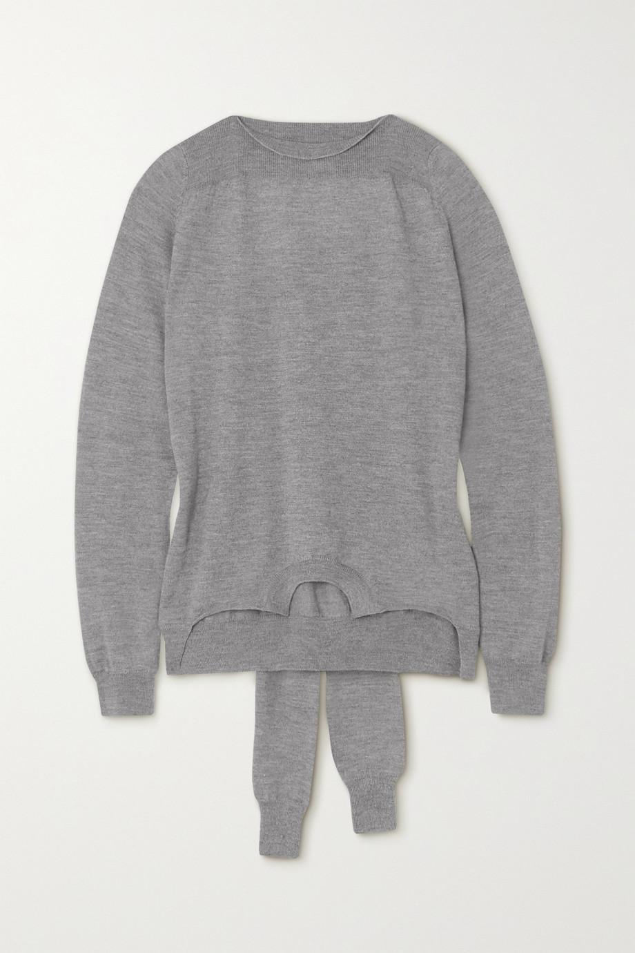 MM6 Maison Margiela Pullover aus melierter Wolle zum Binden