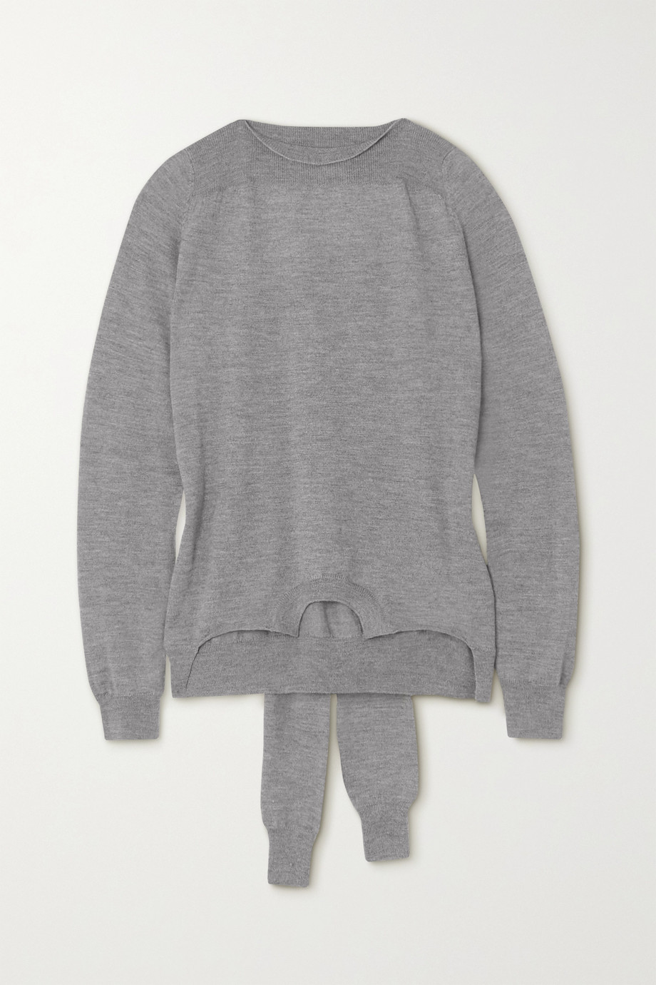 MM6 Maison Margiela Tie-detailed mélange wool sweater