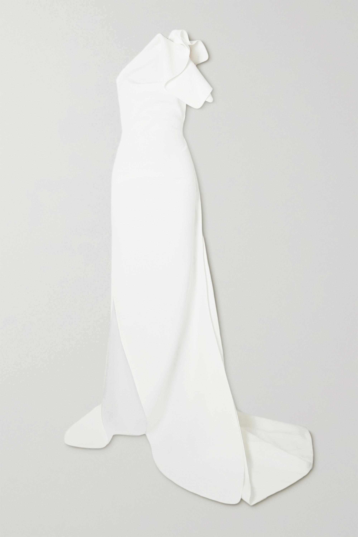 Maticevski Indelible one-shoulder ruffled crepe gown
