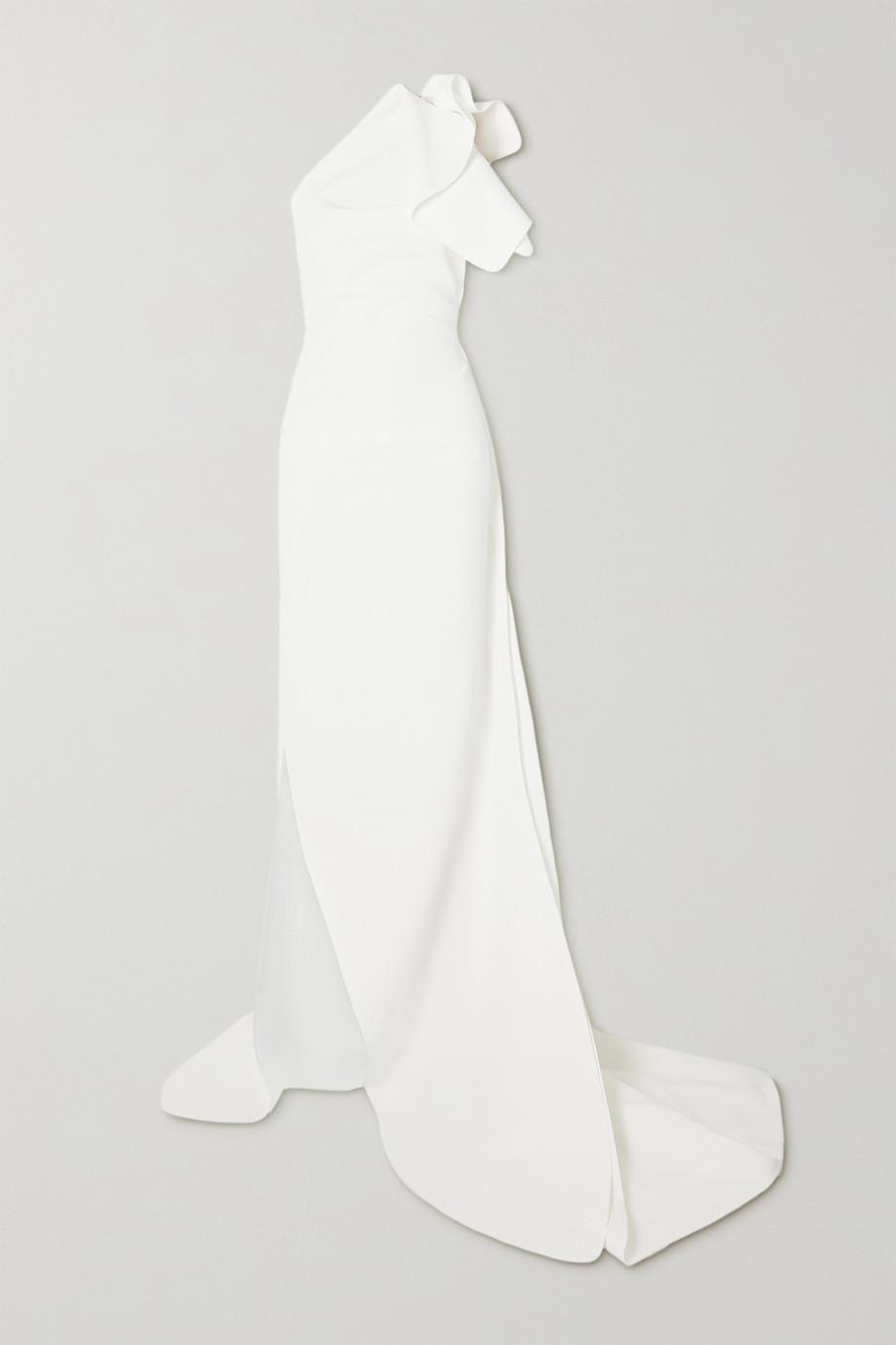 Maticevski Indelible asymmetrische Robe aus Crêpe mit Rüschen