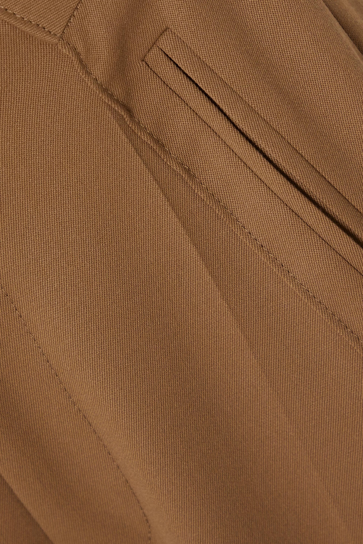 Beige Pleated Twill Wide-leg Pants | Mm6 Maison Margiela