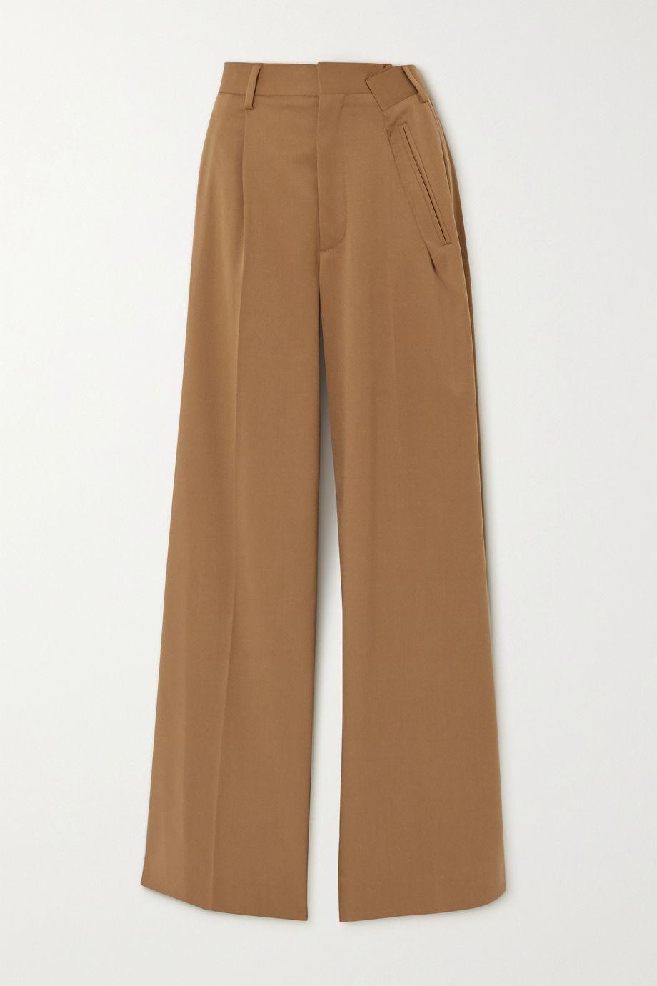 MM6 Maison Margiela 褶裥斜纹布阔腿裤