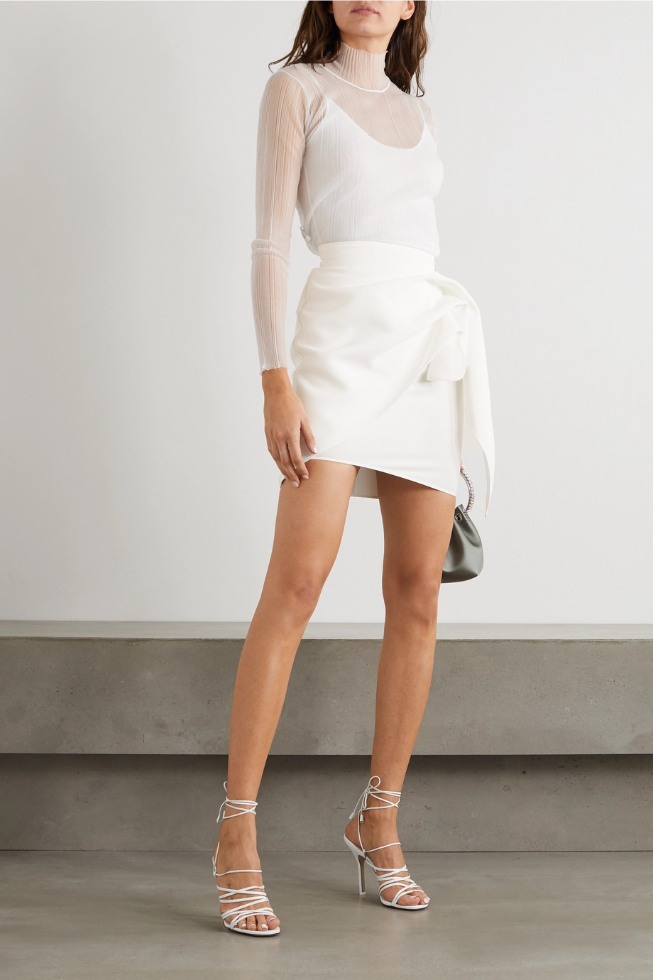 Maticevski Splendid gathered stretch-crepe mini skirt