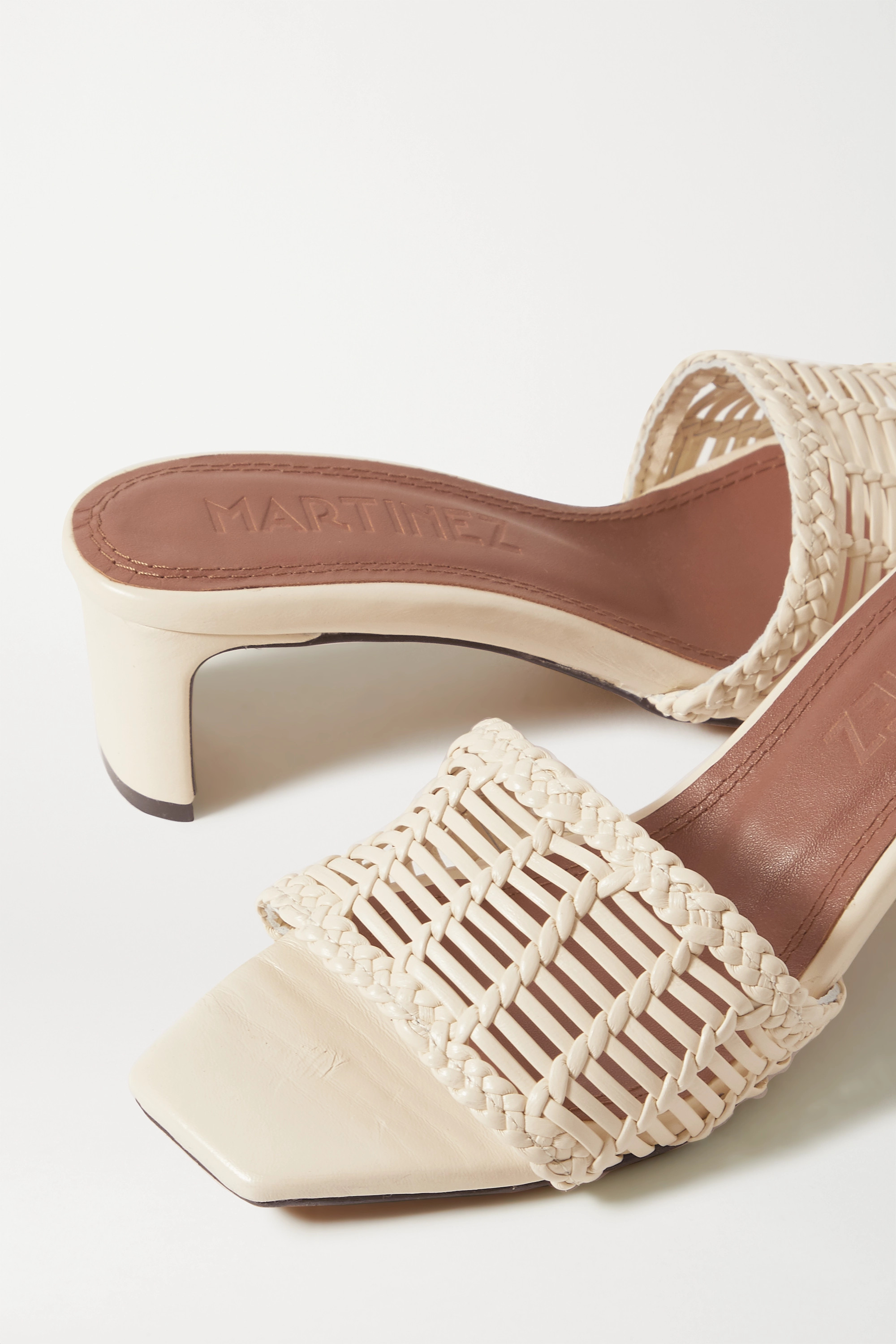 Souliers Martinez Olga woven leather mules