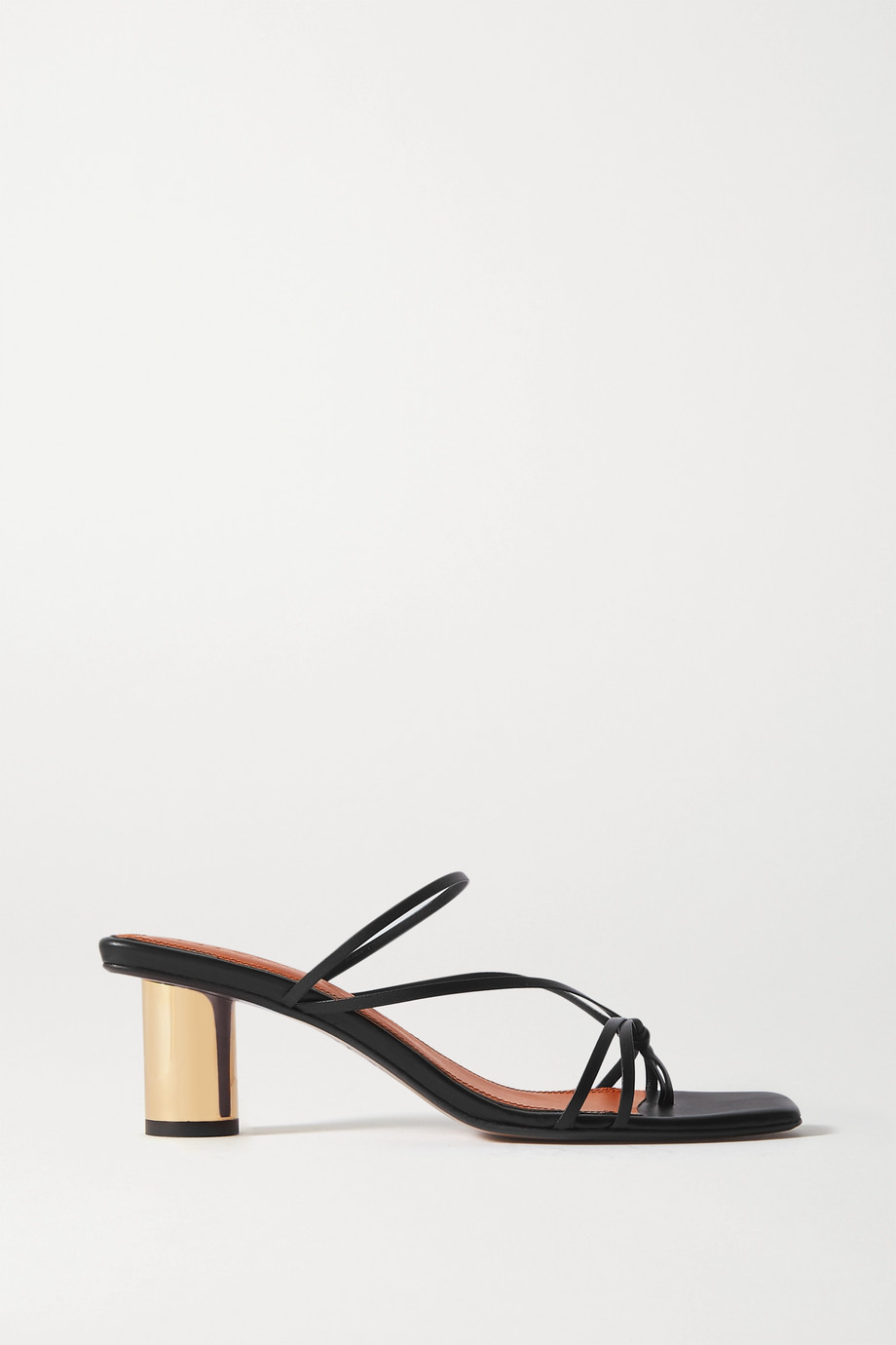 Souliers Martinez Aranda leather mules