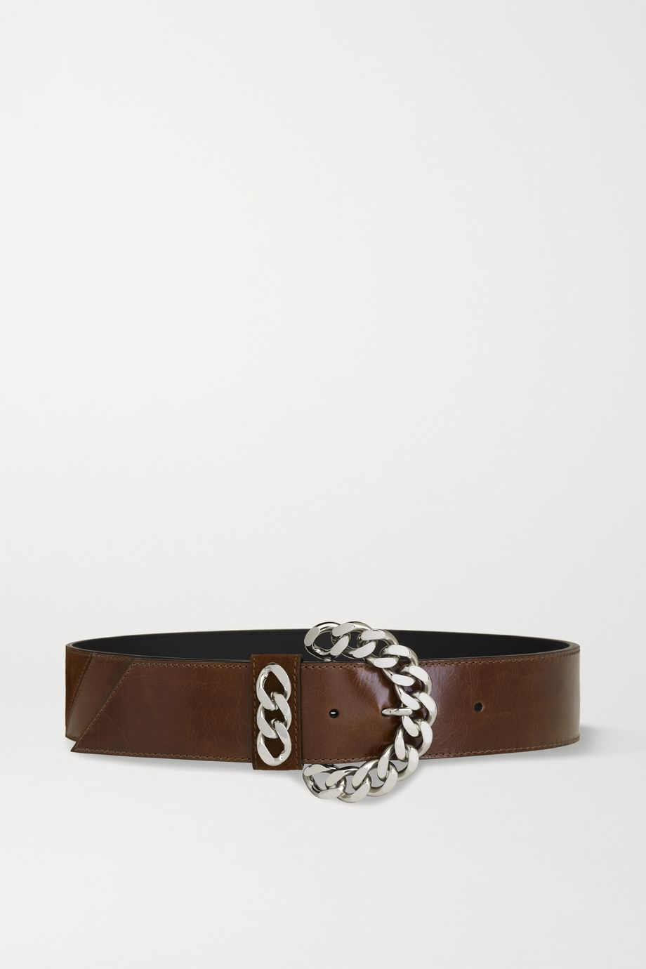 Kate Cate Chain-embellished leather belt