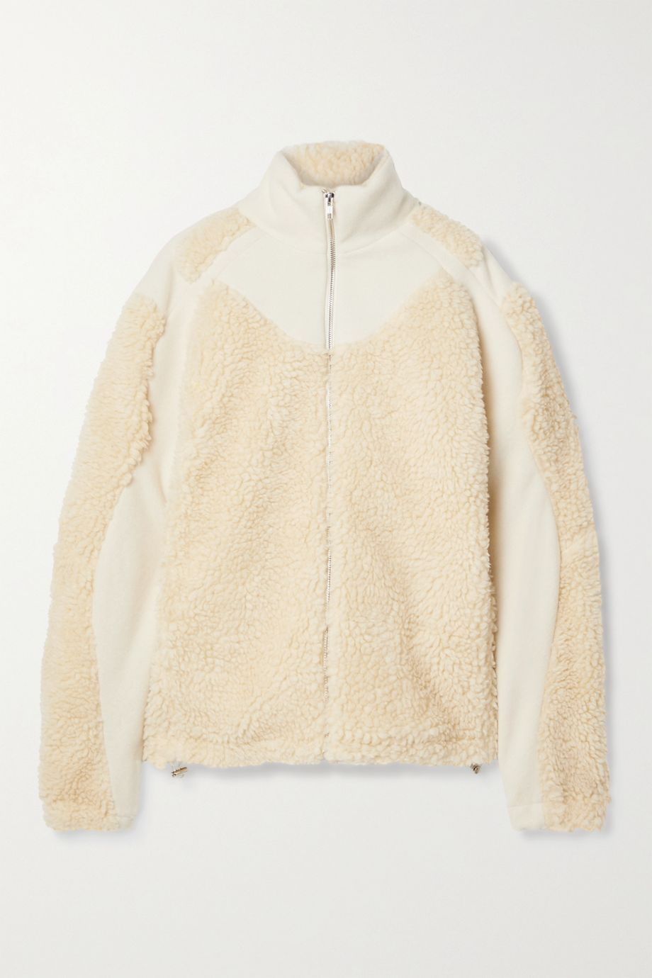 GmbH Ercan wool-blend felt and faux shearling jacket