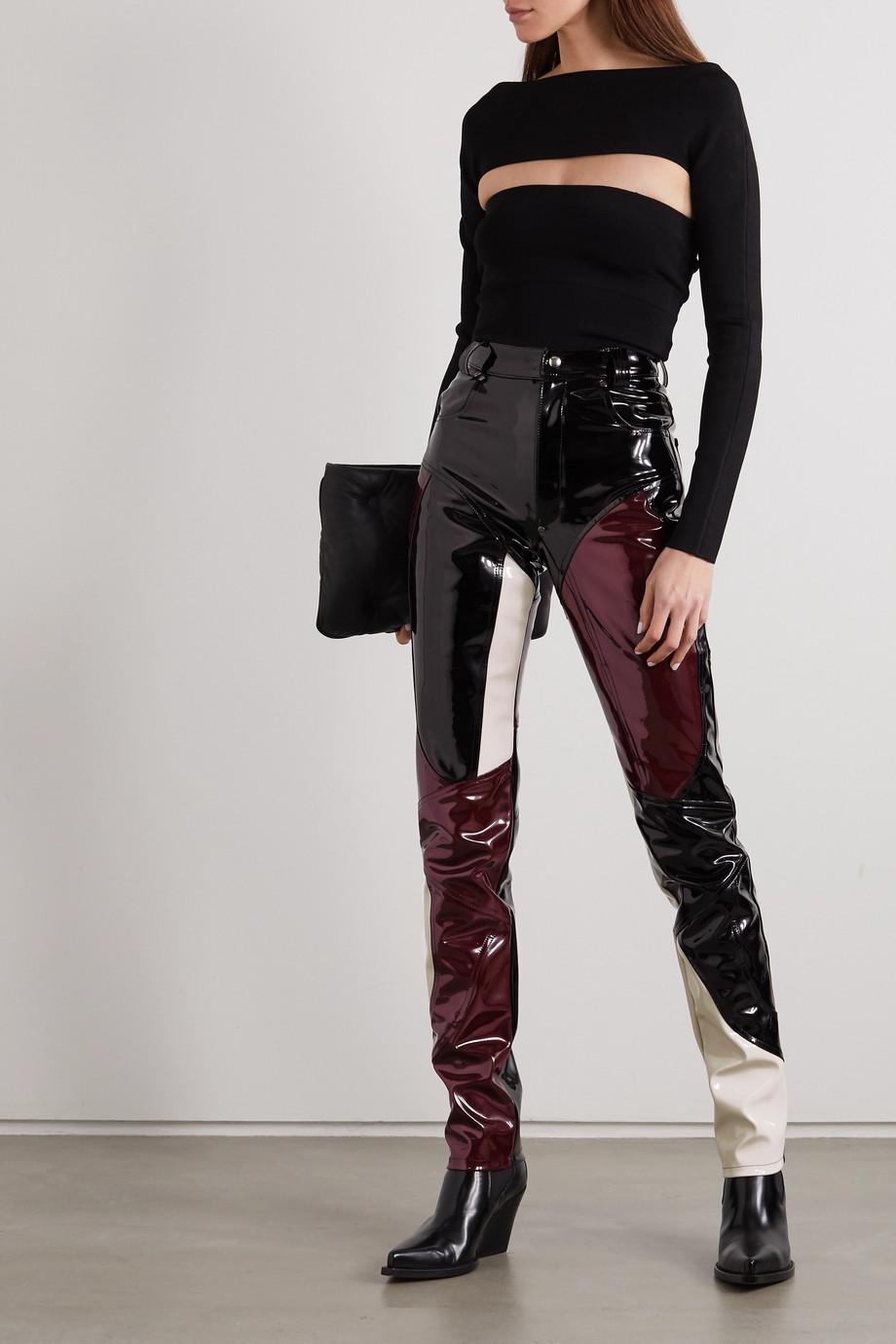 GmbH Hose mit schmalem Bein aus Vinyl in Patchwork-Optik