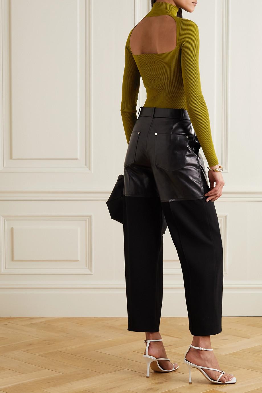 Zeynep Arcay Cutout ribbed-knit bodysuit