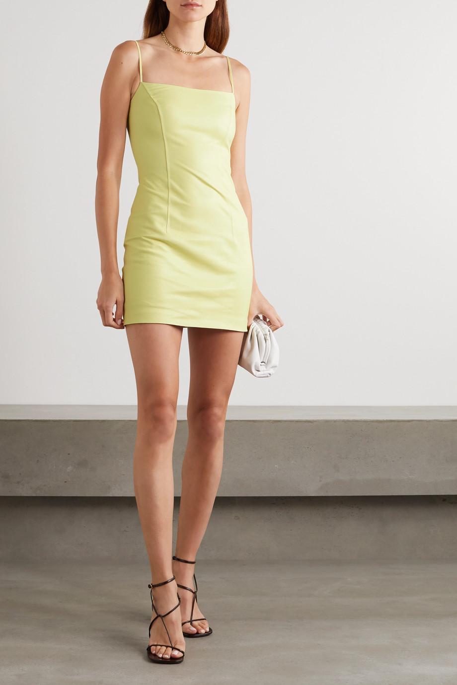 Zeynep Arcay Leather mini dress