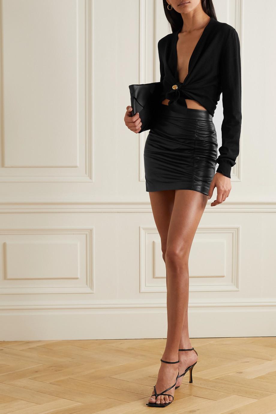 Zeynep Arcay Geraffter Minirock aus Leder