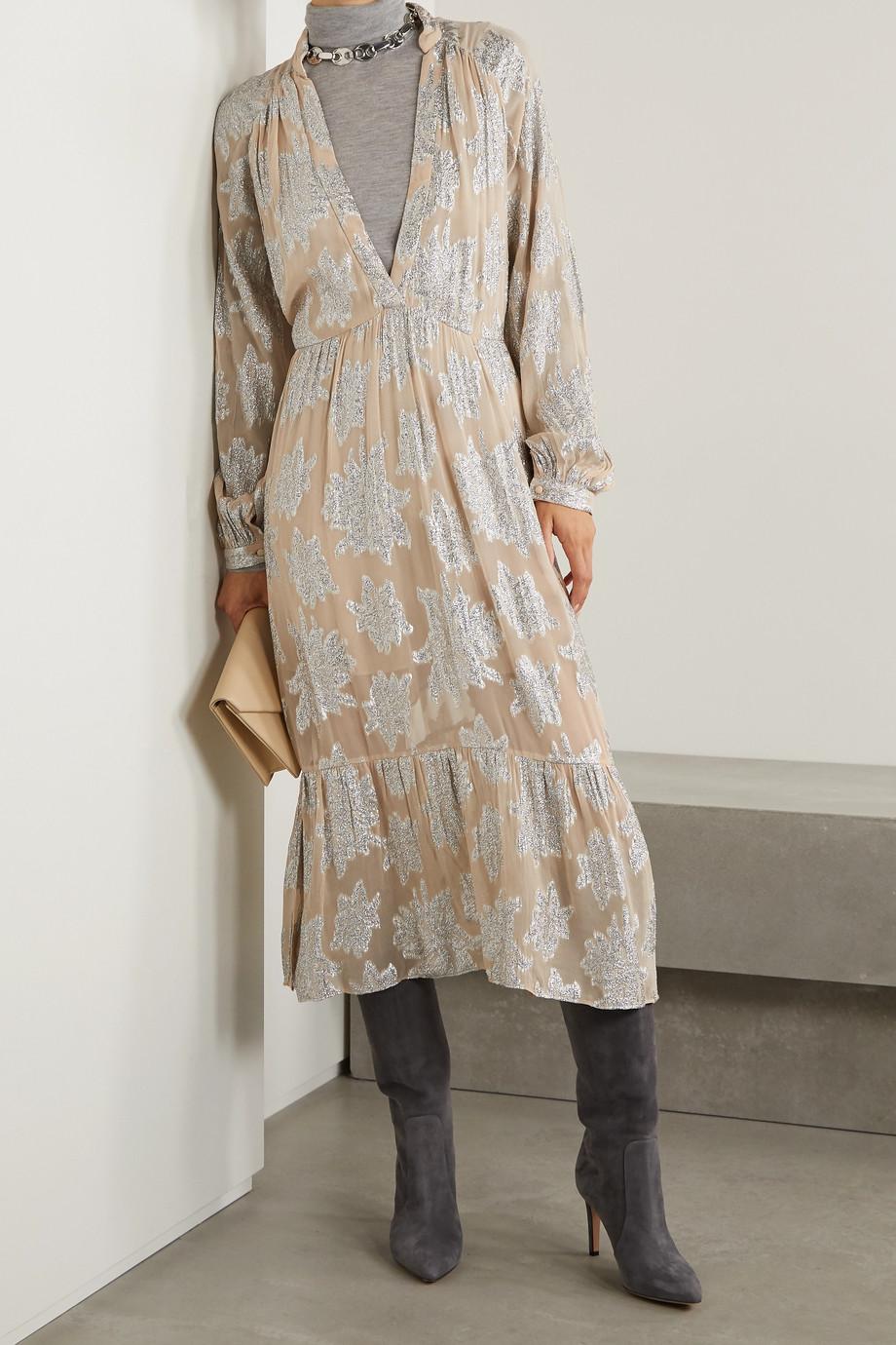 IRO Katte fil coupé crepe de chine midi dress