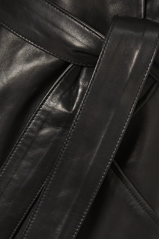 IRO Mini-robe portefeuille en cuir à ceinture Lanika