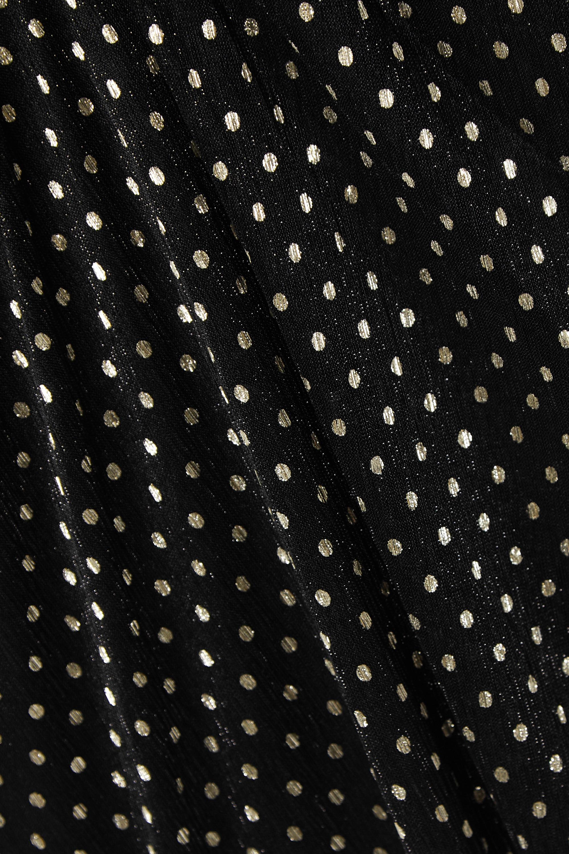 IRO Mawson ruffled polka-dot fil coupé chiffon midi dress