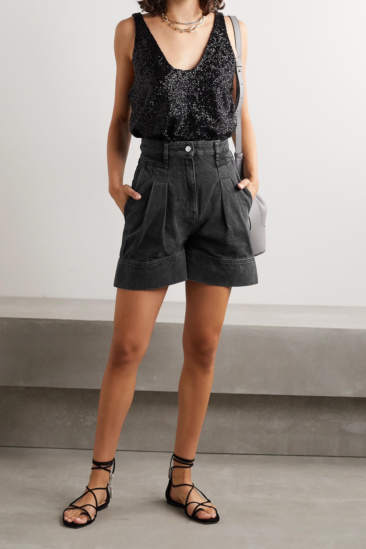 IRO Tryfin pleated denim shorts
